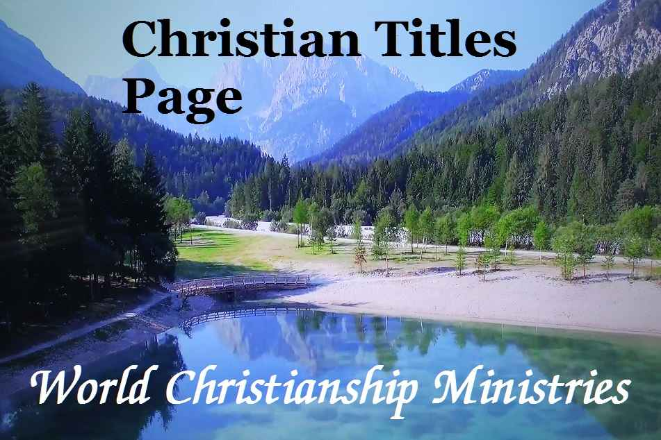 christian titles page